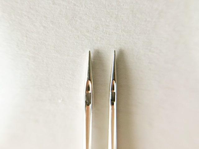 ミシン針が折れる
